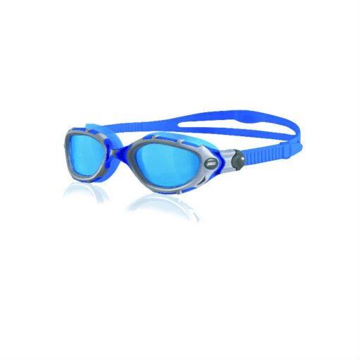 Zoggs Predator Flex Lite Silver Blue swimming goggles