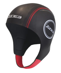 Zone3 Neoprence Unisex Swim Cap- Black & Red