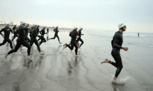 triathlete running