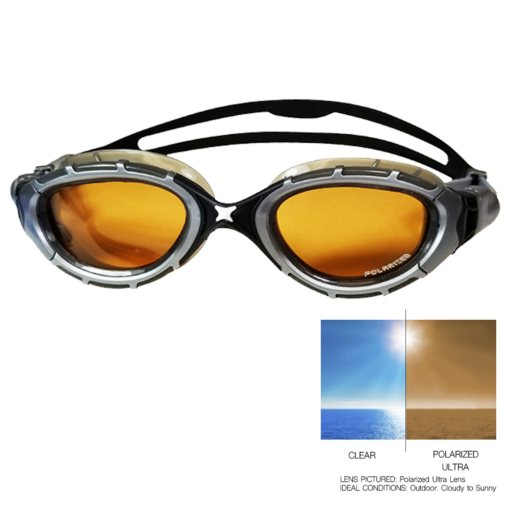 Zoggs Polarized Ultra 2.0 Silver with Bronze Lense