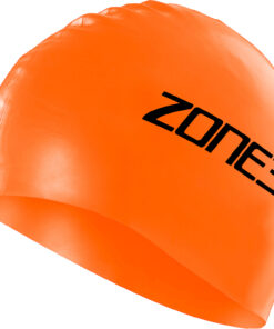 Zone3 High Viz Orange Silicon Swim Cap