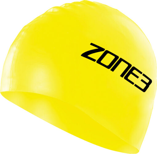 Zone 3 High Vis Yellow Silicon Swim Cap